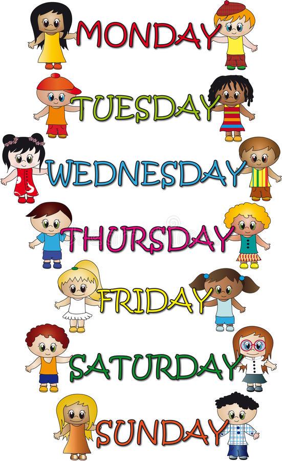 Days Week Stock Illustrations.