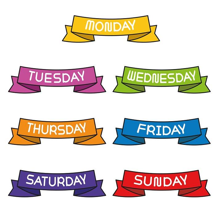 7 Days Week Ribbon Decorate.