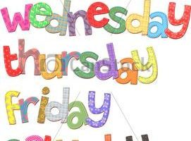 Days of week clipart 3 » Clipart Portal.