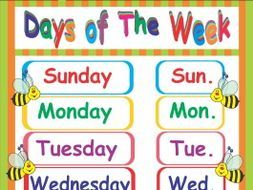 Days of week clipart 7 » Clipart Portal.