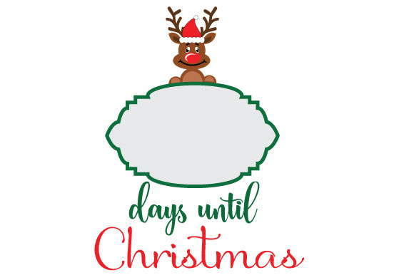 Days until Christmas Rudolph.