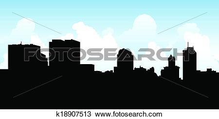 Clipart of Dayton Skyline k18907513.