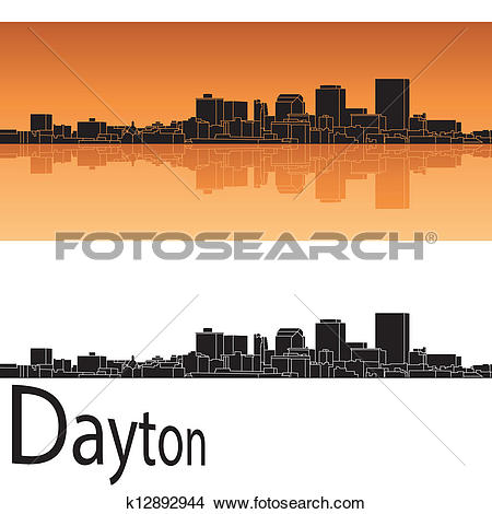 Clipart of Dayton skyline k12892944.