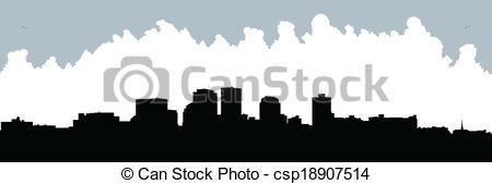 Vector Clip Art of Dayton Skyline.