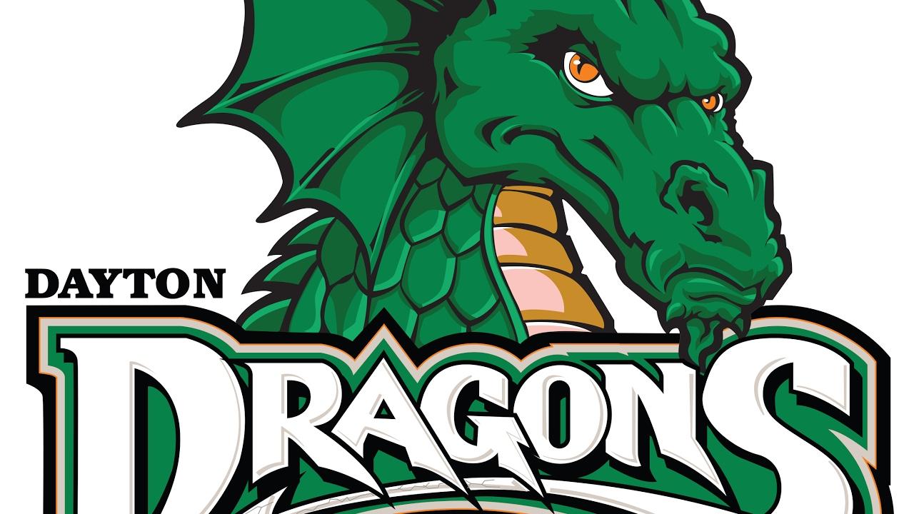 Dayton Dragons Logo Tracing.