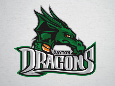 Dayton Dragons logo concept by Lindsey Kellis Meredith on.