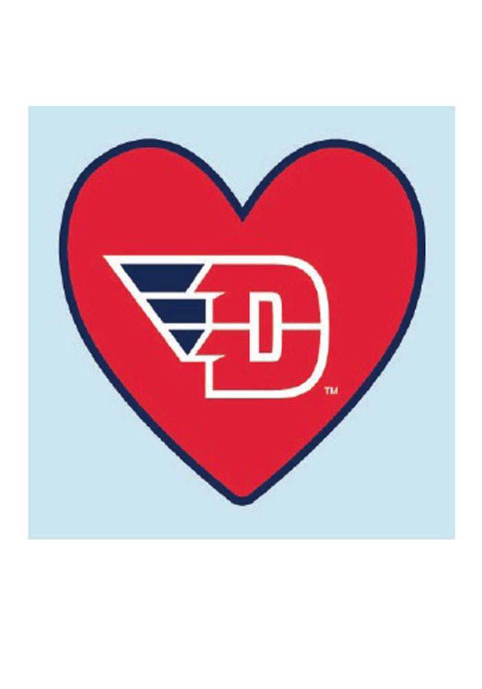 Dayton Flyers Logo In Heart 4 Pack Tattoo.