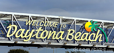 Welcome To Daytona Beach Royalty Free Stock Photography.