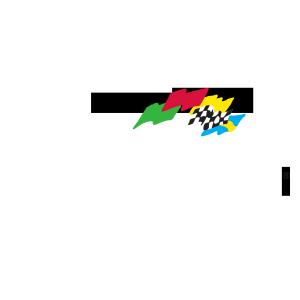 Daytona International Speedway Logo White Text.