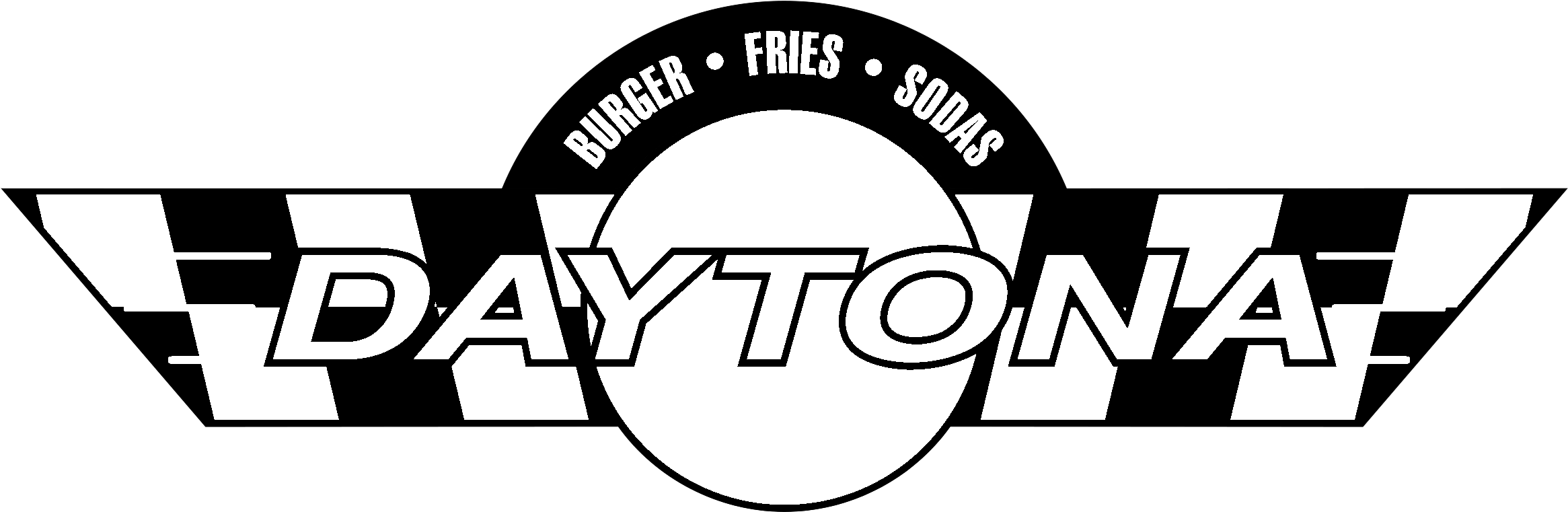 HD Daytona Logo Black And White.