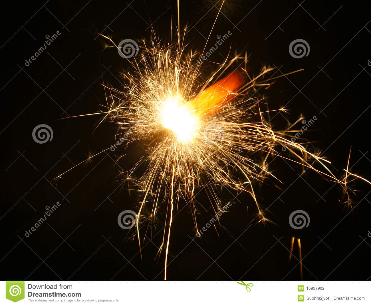 Dazzling Sparkles Of Diwali Stock Photography.