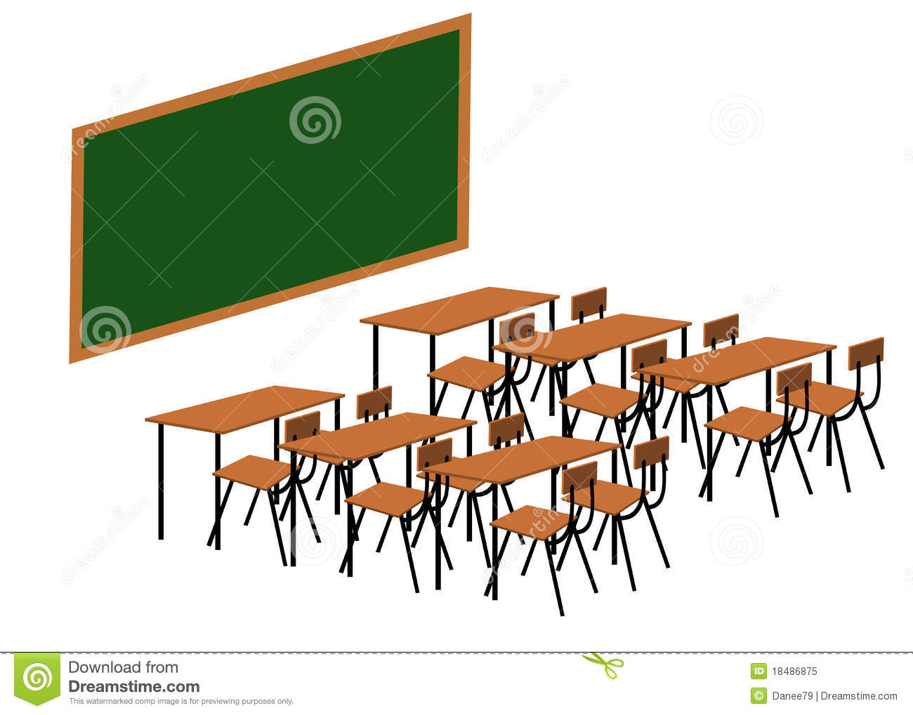 classroom table and chairs clipart.