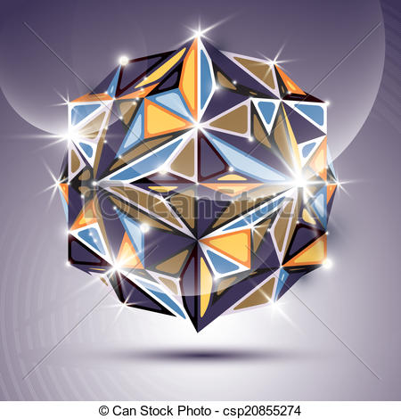 Vectors Illustration of 3D bright twinkle disco ball. Vector.