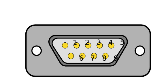 Db9 Chassis Connector Backside Clipart.