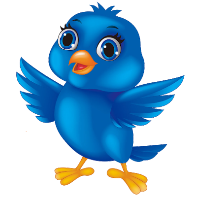 Cartoon Blue Bird Clipart.