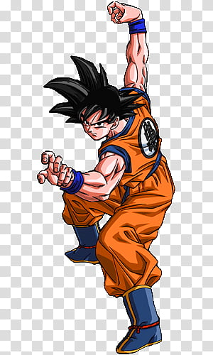 DBZ Goku Laughing transparent background PNG clipart.