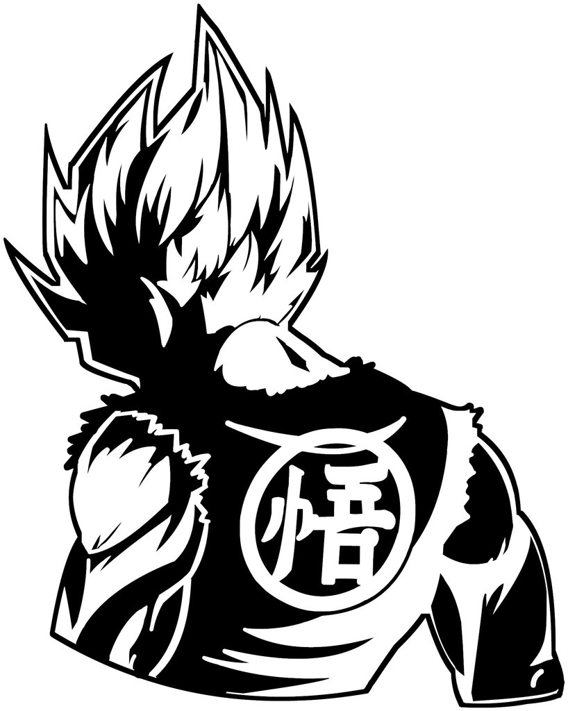 Dragon Ball Z Clipart Black And White.