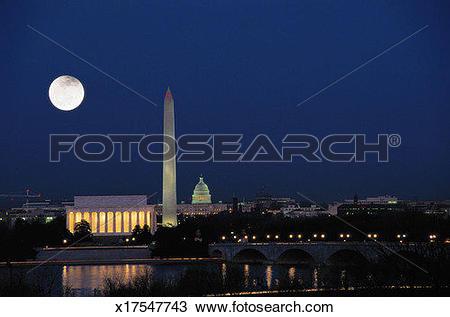Stock Photo of Washington DC at Night x17547743.