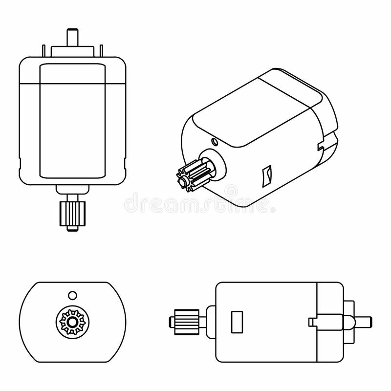 Dc Motor Stock Illustrations.