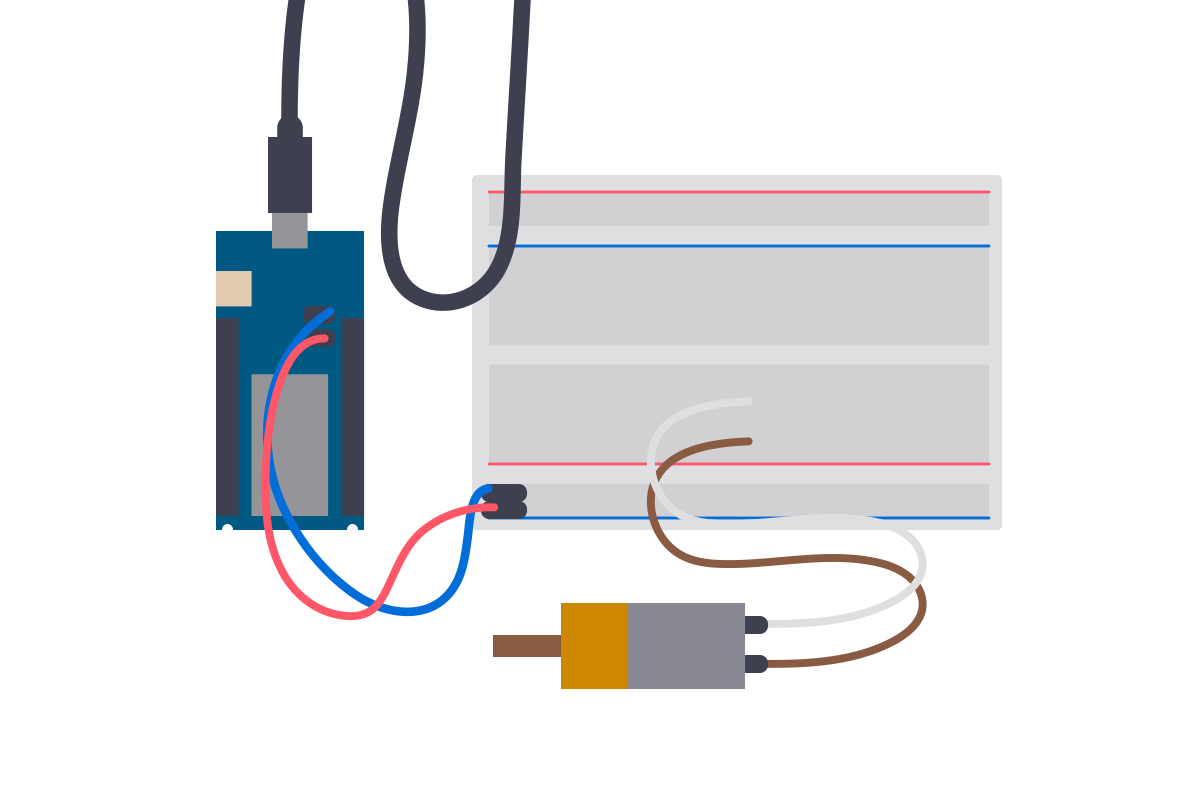 Driving a DC motor with an Arduino and the L293D motor driver.