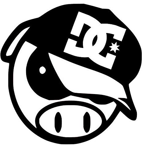 Amazon.com: Decal Flags USA DC Shoes Logo ON Angry Pig.