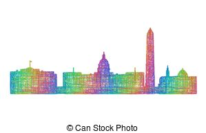 Washington dc skyline Vector Clip Art EPS Images. 223 Washington dc.