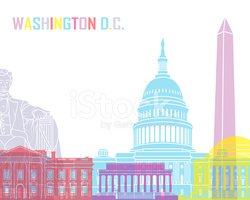 Washington DC Skyline Pop stock vectors.
