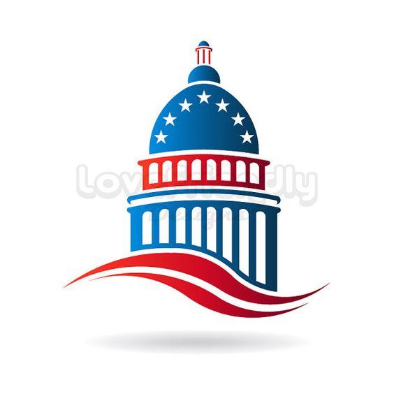 Capitol building patriotic logo clip art. America Center of.