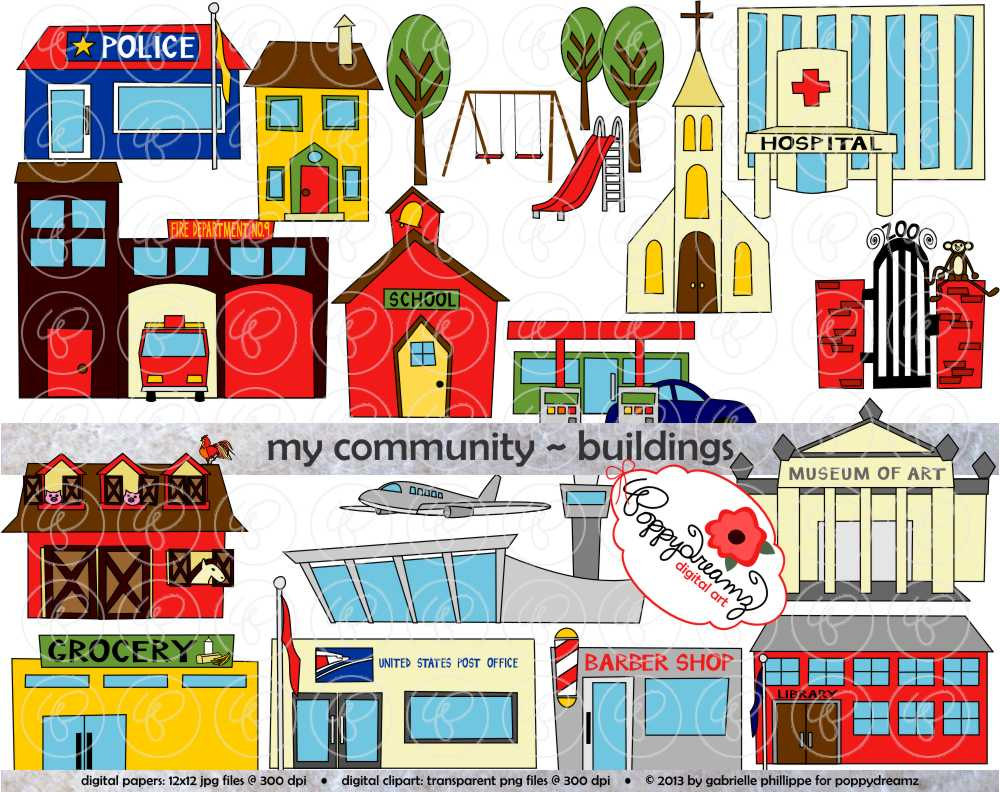 Clip Art Of A Map Of Community Clipart.