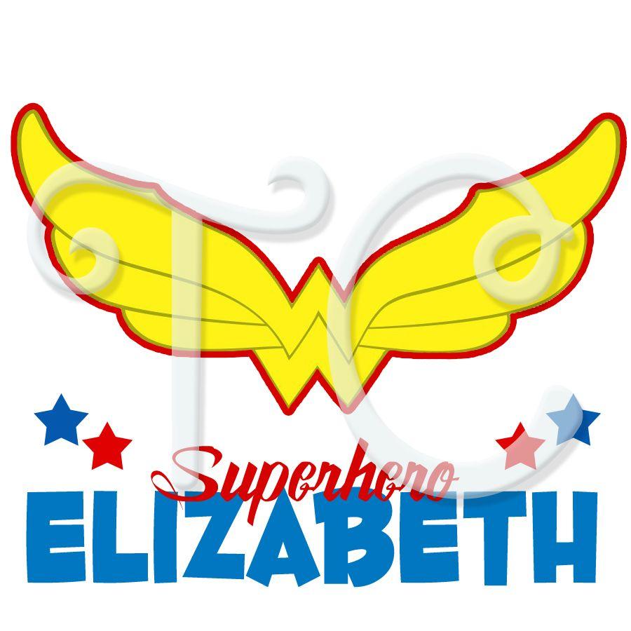 DC Superhero Girls Wonder Woman Logo Personalized Birthday t.