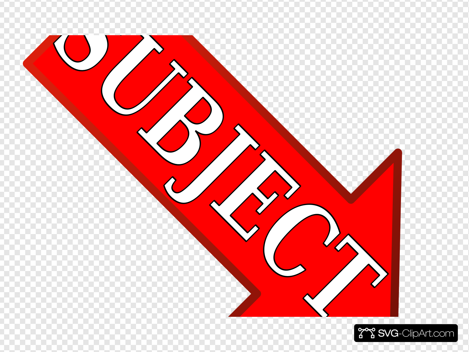 Red Subject Arrow Down Right Clip art, Icon and SVG.