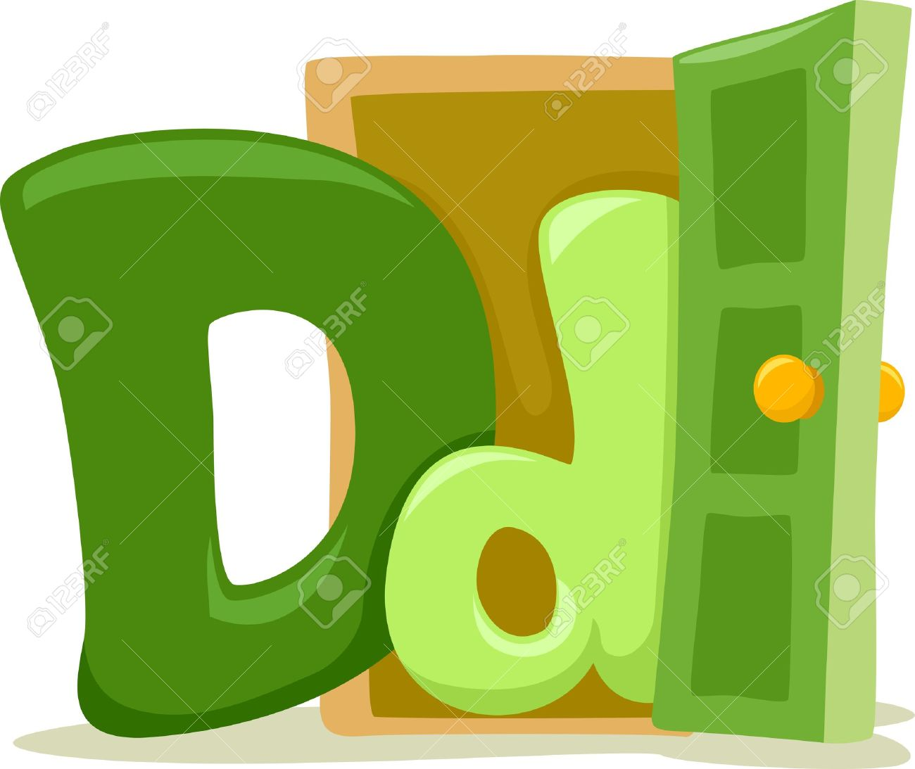 Letter dd clipart.