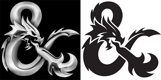 New logo puts the dragon in 'Dungeons & Dragons'.