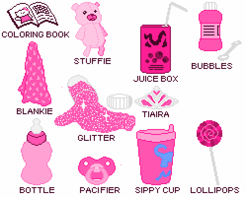 Baby girl pacifier clipart.