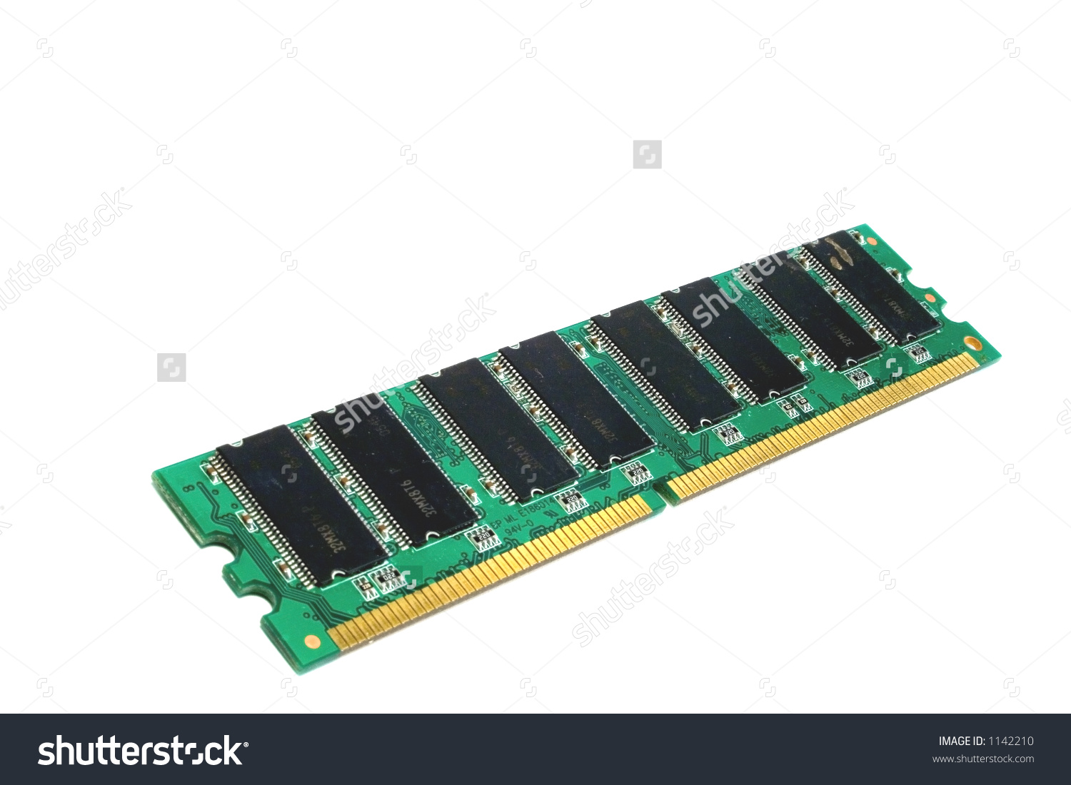Ddr Ram Memory Stick Isolated Stock Photo 1142210.