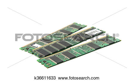 Stock Photo of DDR RAM stick isolated k36611633.