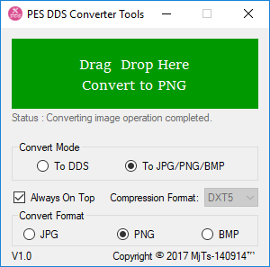 PES DDS Converter Tools by MjTs.