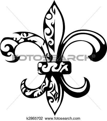 Clipart of Fleur De Lis, New Orleans k4661641.