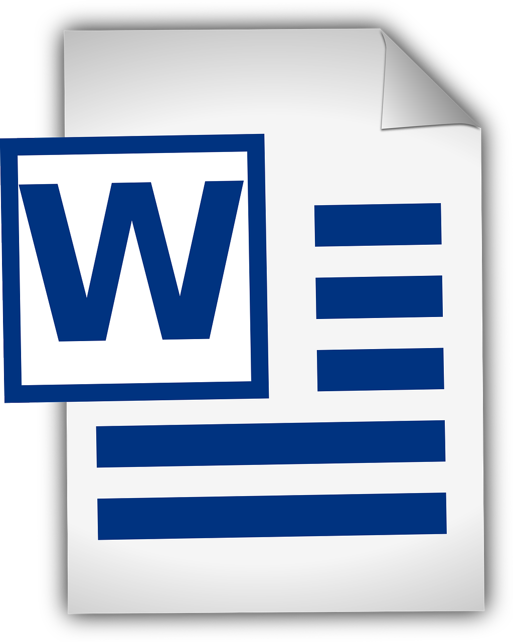 Clipart of the icono de word 2018 free image.