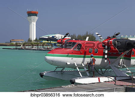 """Stock Images of """"Hydroplane being refuelled, De Havilland Canada."""