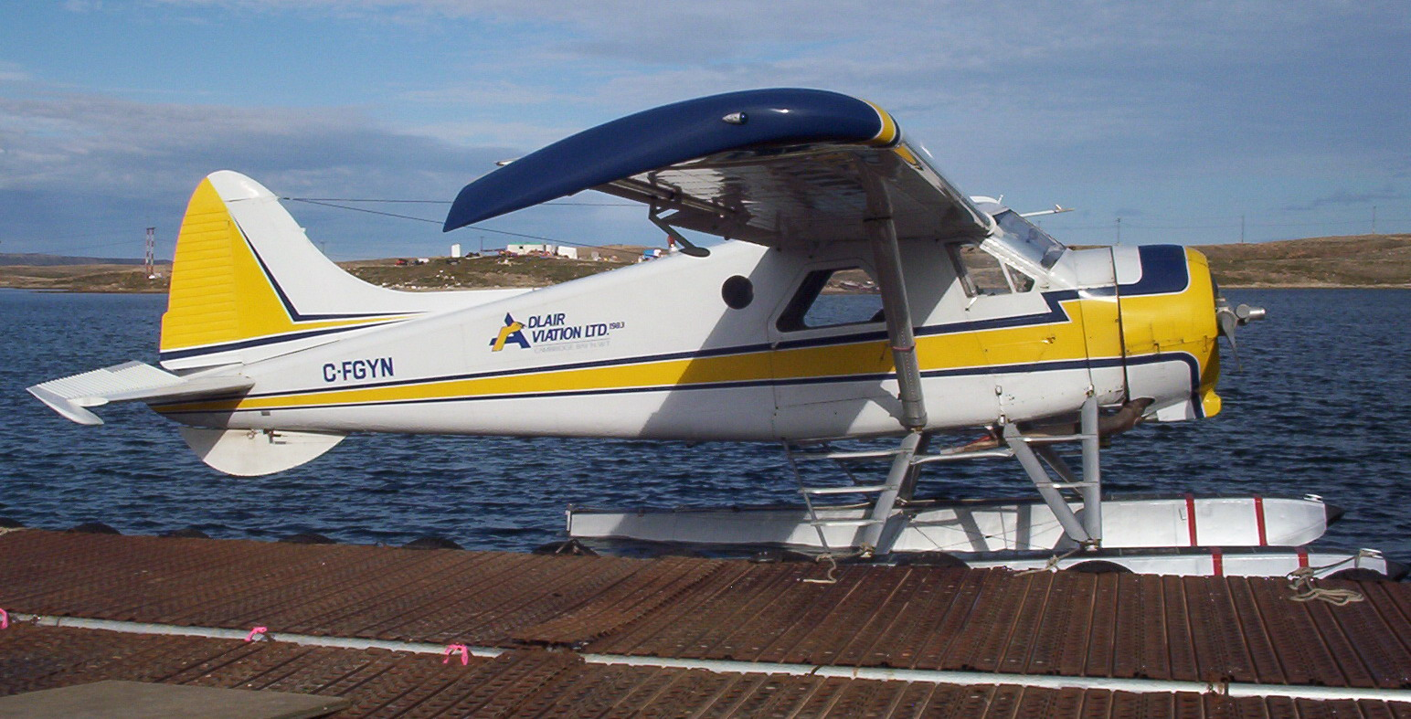 Dehavilland beaver float plane clipart.