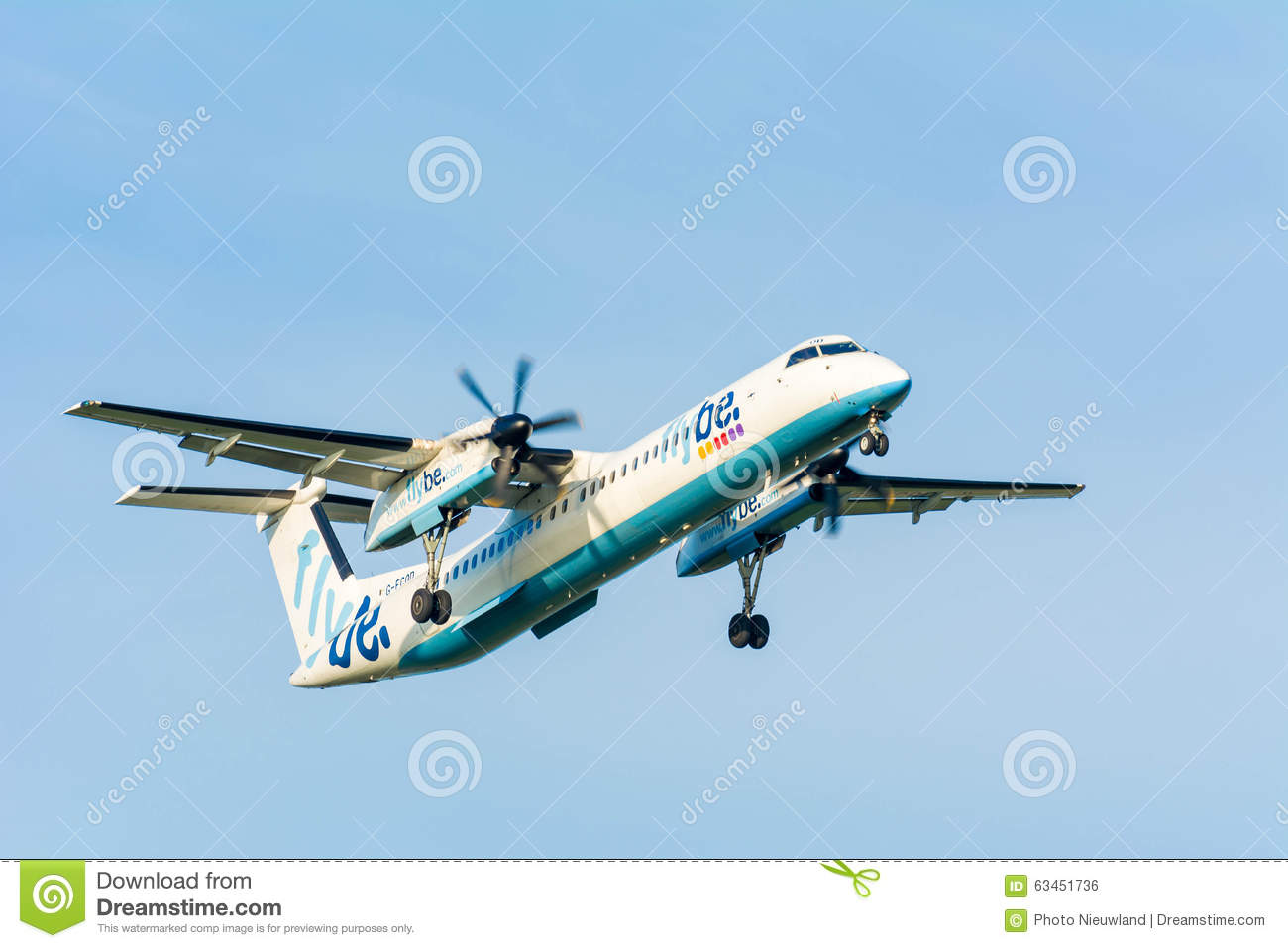 Plane From Flybe De Havilland Canada G.