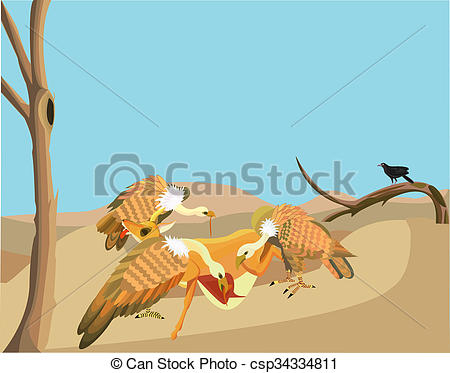 Clipart of Scavengers,.