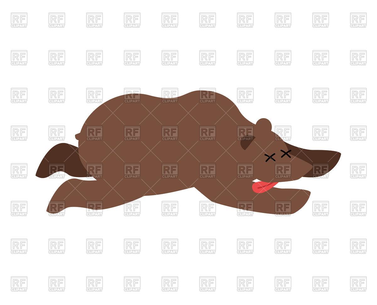 Dead bear Stock Vector Image.