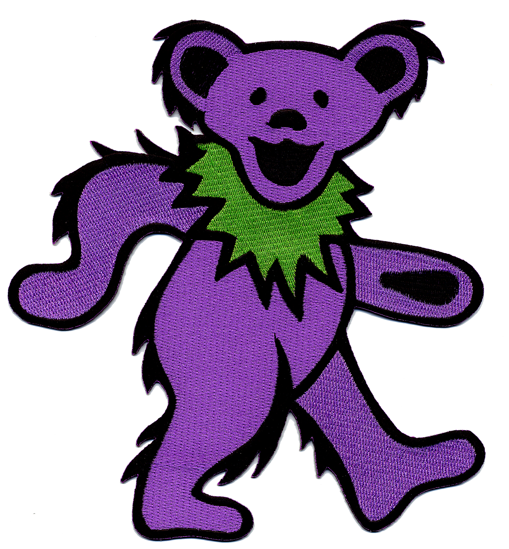 Grateful Dead Xxl Dancing Bear Patch Gypsy Rose clipart free image.