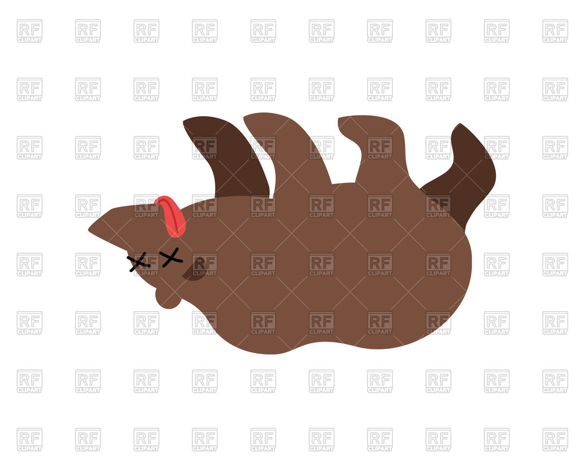 Dead cartoon bear Stock Vector Image.