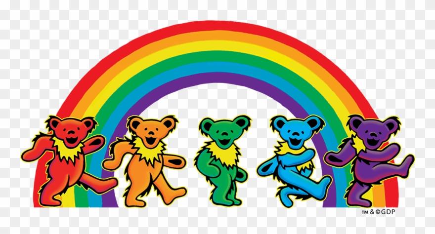 Grateful Dead 5 Dancing Bears Sticker Clipart (#1135002).