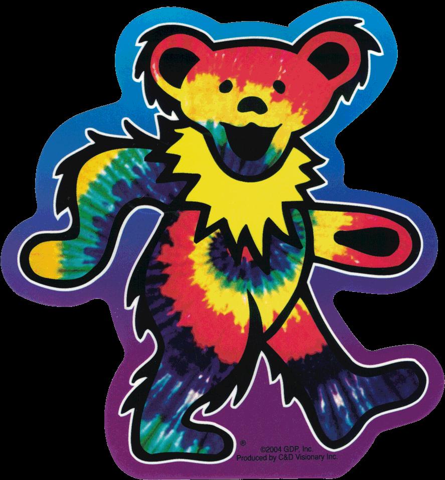 Grateful Dead Tie Dye Dancing Bear.