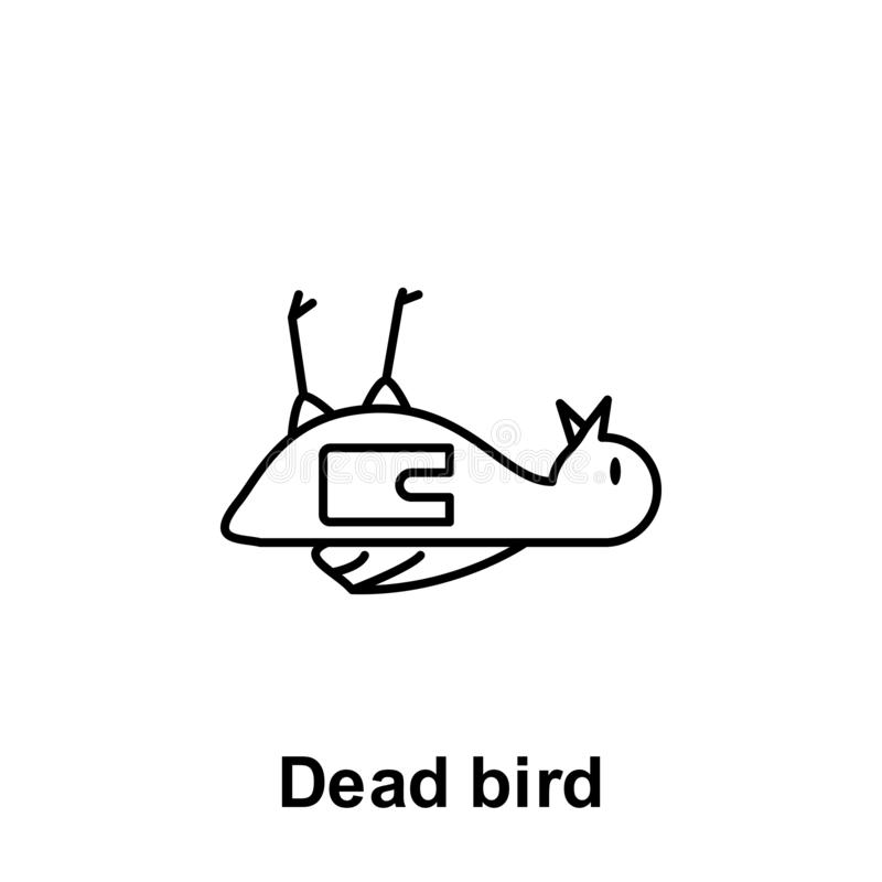 Dead Bird Stock Illustrations.