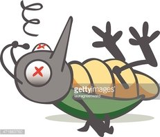 Dead Bug Stock Vector.